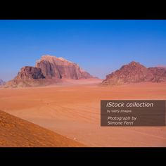 Mountains Jordan Wadi Rum desert - Stock image Nature, Horizontal, Outdoors, Jordan - Middle East, Summer  http://www.istockphoto.com/photo/mountains-jordan-wadi-rum-desert-gm530589802-93489799  #Petra #ruins #wadirum #desert #Horizontal #color #rock #Jordan #MiddleEast #Colors #Red