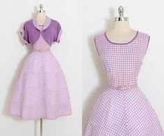 Vintage 50s Dress 1950s cotton dress and by millstreetvintage