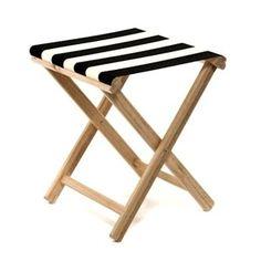 Skládací stolička Beach, černé proužky