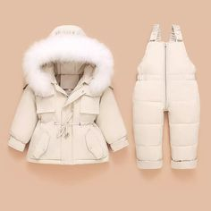"C & S Collection on Instagram: ""The quality of this is so lovely, definitely an ideal piece for this cold winter ❄️🤍"" Girls Down Coat, Boy Outfits, Winter Outfits, Toddler Jumpsuit, Baby In Snow, Baby Snowsuit, Solids For Baby, Baby Overalls, Snow Outfit"