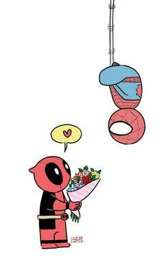 Deadpool x Spiderman imagenes Deadpool Y Spiderman, Deadpool Fan Art, Deadpool Funny, Deadpool Movie, Batman Vs Superman, Deadpool Quotes, Deadpool Tattoo, Deadpool Costume, Marvel Vs