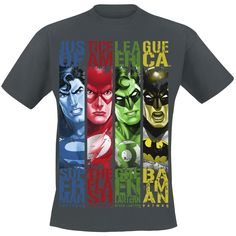 Characters (T-Shirt) by Justice League