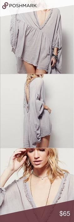 Free People Get Your Gauze tunic Super cute tunic oversized tunic for a super cute look Free People Dresses Mini