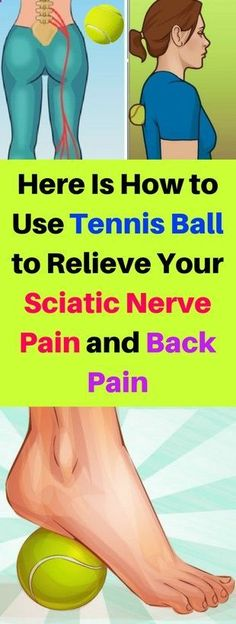 Pain Remedies Here Is How to Use Tennis Ball to Relieve Your Sciatic Nerve Pain and Back Pain – healthycatcher Sciatic Pain, Sciatic Nerve, Nerve Pain, Douleur Nerf, Sciatica Symptoms, Sciatica Massage, Gluteal Muscles, Chiropractic Treatment, Headache Remedies