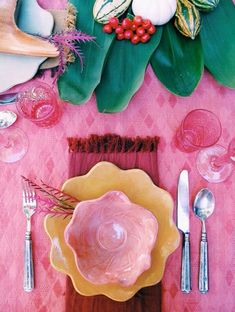 party ideas - pinks & greens