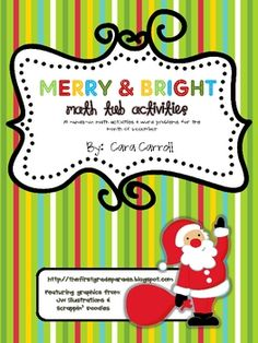 Merry & Bright Math Tub Activities {15 Christmas Themed Math $8.50