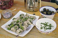 Elämää Koivurannassa: Kalamiehenviettelys Tzatziki, Feta, Potato Salad, Food And Drink, Dairy, Potatoes, Cheese, Ethnic Recipes, Potato