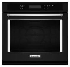 Buy the KitchenAid Black Direct. Shop for the KitchenAid Black 30 Inch Wide Cu. Electric Wall Oven with Even-Heat True Convection and save. Kitchenaid, Cleaning Oven Racks, Electric Wall Oven, Convection Cooking, Single Wall Oven, Thing 1, Shape Design, Funny
