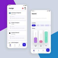 "iamgowtham on Instagram: ""Hi guys,  Job portal app concept  Hope you like this !😀 #designs #app #appdesign #appdesigner #androidapp #iosapp #ui #ux #uxdesigner…"" Ios App Design, Mobile App Design, Web Design, Mobile App Ui, Logo Design, User Interface Design, Ui Design Tutorial, Portal Design, Card Ui"