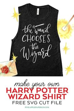 Free Harry Potter Wand SVG - Harry Potter SVG Cut File - Pineapple Paper Co. FREE Harry Potter Wand SVG Cut File for Cricut and Silhouette to make your own Harry Potter Shirt. Get hand lettered Harry Potter SVG files for your Cricut at Pineapple Paper Co. Harry Potter Shirts, Harry Potter Wand, Cricut Tutorials, Cricut Ideas, Harry Potter Pictures, Harry Potter Birthday, Free Svg Cut Files, Cricut Creations, Cricut Vinyl