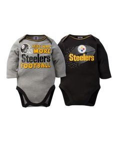 8667c568d Another great find on  zulily! Pittsburgh Steelers Long-Sleeve Bodysuit Set  by Gerber