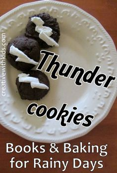 Thunder Cookies - baking idea and BOOK LIST all about rainy days.
