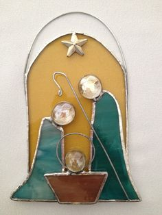 Stained Glass Christmas Ornament: Baby Jesus Nativity by Mama Agee on Etsy, $12.50