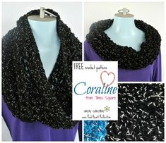 Beautiful Free Cowl #crochet pattern - Coraline on Times Square by Simply Collectible