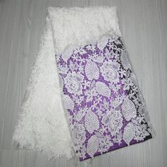 White Lace Fabric Wholesale   ... Fabric With Flower Decoration Embroidery Guipure Lace Fabric White