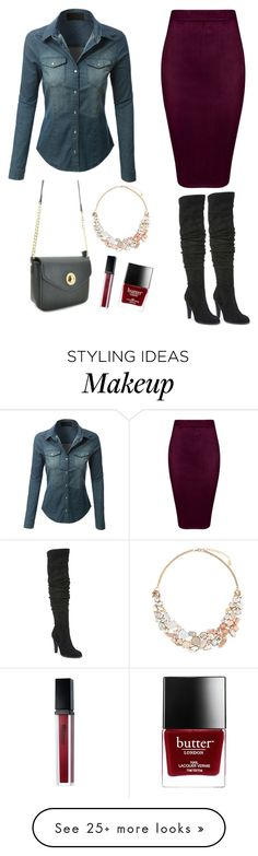 """Fall outfit 9.6.16"" by glamupparties on Polyvore featuring LE3NO, Carlos by Carlos Santana, BHCosmetics, Butter London and Accessorize"