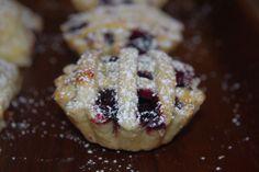 Mini Blueberry Lattice Pie.