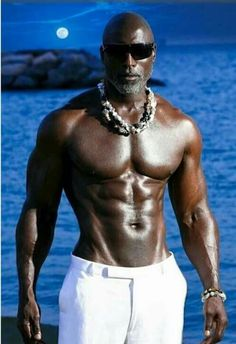 "When you call a beautiful dark brown man a ""piece of chocolate"", you're denegrating his body and soul. His skin is NOT food, it is LIFE at it's finest. Fine Black Men, Gorgeous Black Men, Hot Black Guys, Handsome Black Men, Fine Men, Black Man, Raining Men, Older Men, Good Looking Men"