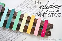 DIY xylophone made with paint sticks - Ask Anna