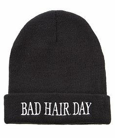 Black (Black) Black Bad Hair Day Beanie  c56e1c7a252