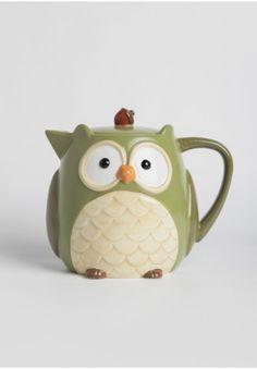 Oliver Ceramic Owl Teapot | Modern Vintage Kitchen | Modern Vintage Home & Office | Ruche