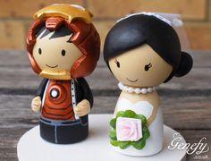 Cute IRONMAN and Bride superhero wedding cake by GenefyPlayground, $182.28