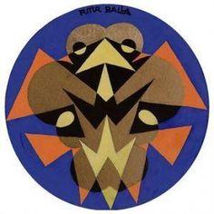 Giacomo Balla - Uccello Futurista - Motivo Per Piatto