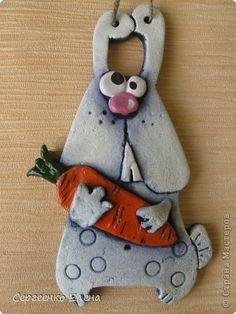 Картина панно рисунок Лепка Сладкая парочка и зайка - побегайка Тесто соленое фото 3