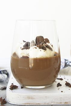 You won't find an easier dessert with this chocolate mousse that uses just two ingredients. Easy Desserts, Dessert Recipes, Cheese Pairings, Creme Brulee, 2 Ingredients, Chocolate Desserts, No Cook Meals, Mousse, Sweets