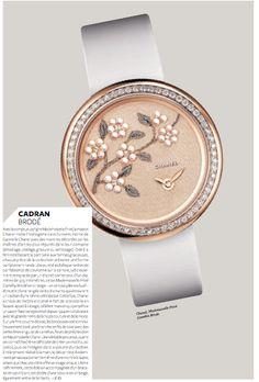 """""""Cadran brodé""""  Chanel, Mademoiselle Privé Camélia Brodé."""
