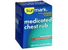 Cough Relief Rub sunmark 3.5 oz.  Price : $2.25