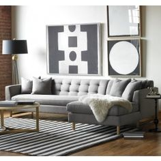 To create the Edward L Shaped Sectional, our designers looked back to the clean lines of the 1950s.