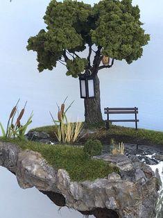 Miniature Houses, Miniature Fairy Gardens, Miniature Greenhouse, Ho Scale Train Layout, Autumn Fairy, Fairy Garden Houses, Fairies Garden, Porche, Fairy Garden Accessories