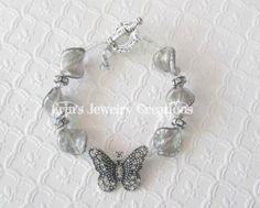Butterfly Brain Cancer Awareness Bracelet by CreativelyErin, $13.00