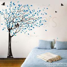 Wand Aufkleber Baum Kinder baby Aufkleber Mädchen Zimmer Aufkleber Büro Aufkleber-vom Winde verweht (78 Zoll H)-entworfen von Pop-Dekore von PopDecors auf Etsy https://www.etsy.com/de/listing/124146921/wand-aufkleber-baum-kinder-baby