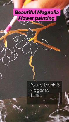 Acrylic Painting Tips, One Stroke Painting, Fabric Painting, Painting Art, Magnolia Paint, Magnolia Flower, Diy Christmas Gifts, Christmas Wreaths, Diy Wall Decor