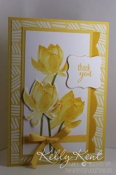 Sale-A-Bration 2015 - Best Year Ever DSP & Accessory Pack plus Lotus Blossom Stamp Set. Sentiment: Lotus Blossom. Kelly Kent - mypapercrafjourney.com