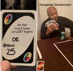 Hungary Lgbt Crackdown Meme Uno Memes, Dankest Memes, Physics Memes, News Memes, Truck Memes, Meme Meme, Roast People, The Land Of Stories, Funny Headlines
