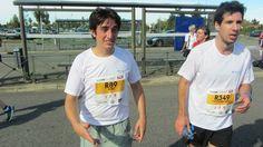 Nicolas et Vincent après 10km