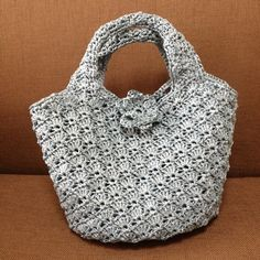 Crochet bag with trebles