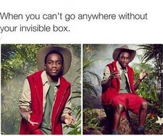 Invisible box man - funny ghetto pictures, funny pictures, ratchet pictures
