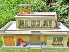RARE original MORITZ GOTTSCHALK dollhouse BUNGALOW 50s 60s VINTAGE rockabilly