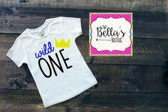 First Birthday Shirt, WILD ONE Birthday shirt, ONE Birthday shirt, Wild one, First Birthday party Shirt, First birthday gift,Birthday gift, by TwoBellasBoutique on Etsy