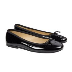 3a97e7c7d07 Girls  Patent Leather Bow Ballerinas in Black. childrenchic.com