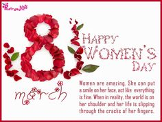 Celebrate International Women's Day this Friday and show the women of the world the respect and love they deserve! Description from coomplete.com. I searched for this on bing.com/images