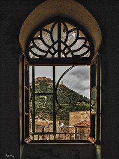 (Oran - Algeria) we can see santa cruz from this window, and the emir abdelkader mountain