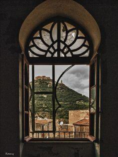 (Oran - Algeria) we can see santa cruz from this window, and the emir abdelkader mountain