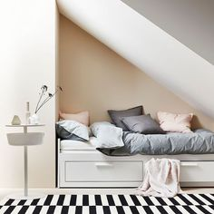 If you love nothing more than IKEA furniture but dread the build, good news is the retailer now has a furniture assembly service. Brimnes Bed, Hemnes, Small Utility Room, Catalogue Ikea, Bedroom Nook, Canapé Design, Furniture Assembly, Ikea Furniture, Interior Inspiration