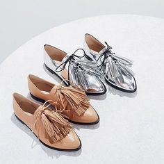 borrowed from the boys / introducing jasper, our menswear inspired oxford with tassels. shop via the link in our profile.