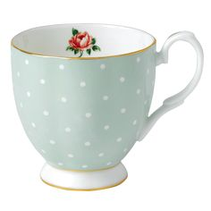 Royal Albert - Polka Rose Vintage Footed Mug | Peter's of Kensington